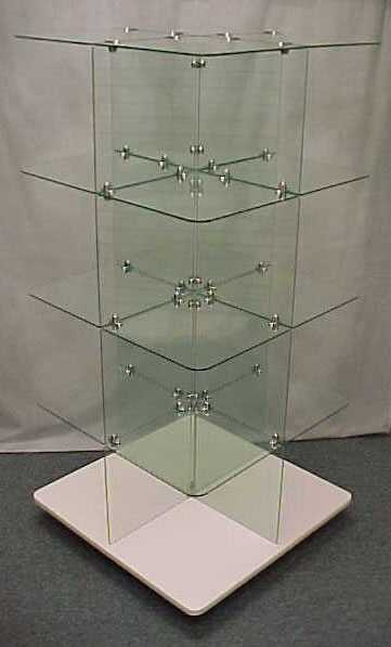 Glass Cubes - Freestanding Glass Shelf Units