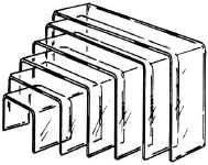 Attractive Beveled Edge Riser Set Includes 6 Risers